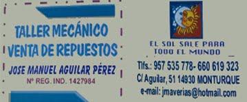 TALLER MECÁNICO JOSE MANUEL AGUILAR