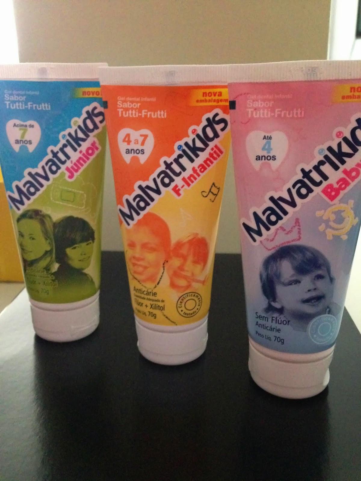 laboratório daudt malvatrikids linha completa de gel dental infantil