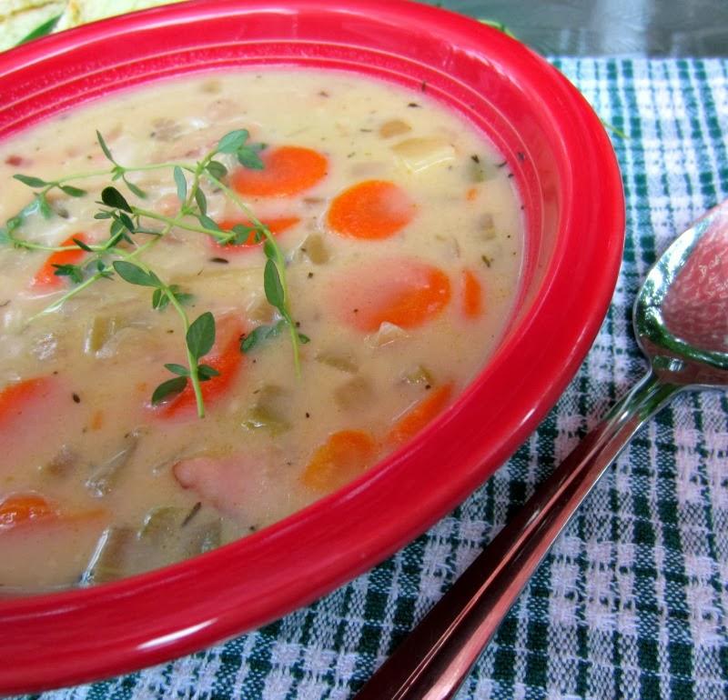 Quick creamy ham and potato soup renee 39 s kitchen adventures for Renee s kitchen