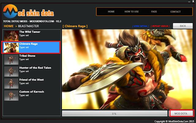 [Mod Dota] Beastmaster Chimera's Rage