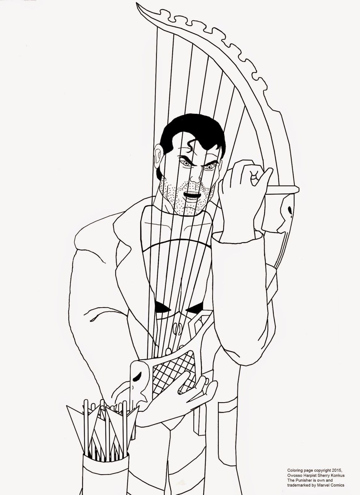 Heres A Free Coloring Page I Made For You Who Are Either Kids Or At Heart Enjoys And Big Fans Of The Punisher