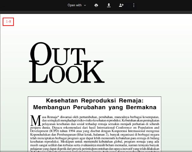 Jurnal Out Look (Kesehatan Reproduksi Remaja)