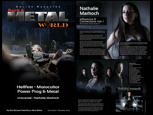 nathalie markoch, nmk, influences & connections, review, reseña, rock & metal world