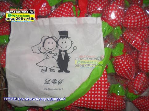 tas strawberry spunbond grosir