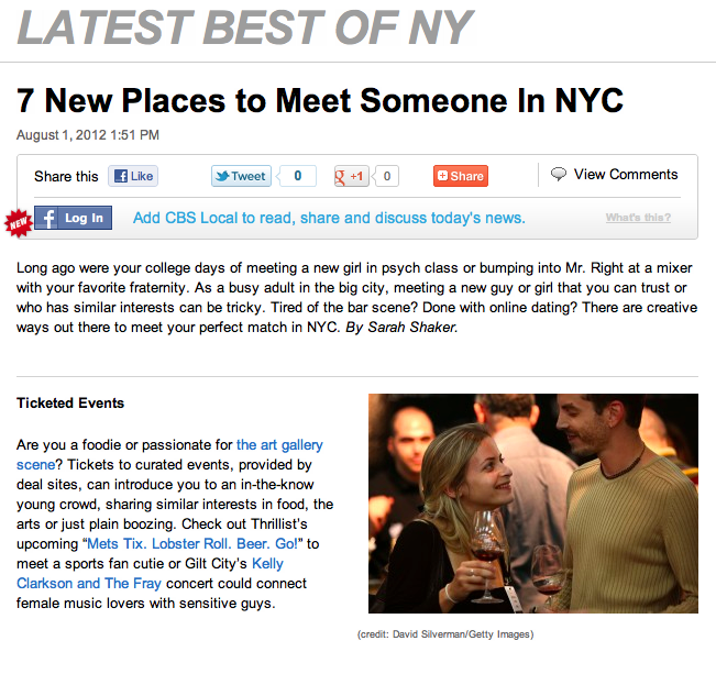 Best places to meet girls in nyc