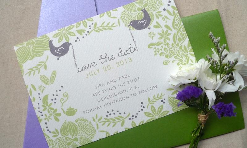 Kalo make art bespoke wedding invitation designs in house for Garden wedding invitation designs