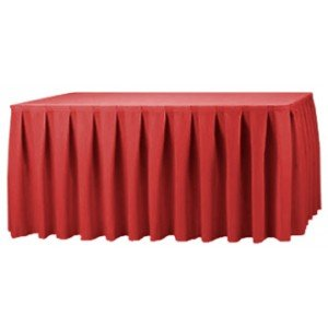 Exceptionnel Unlike Gathered Table Skirts, Knife Pleats Create Smooth, Precise Lines  Down The Length Of The Skirt. The Knife Pleated Table Skirt Is A Classic  Choice That ...