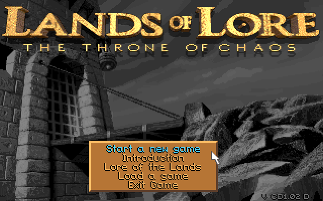 Title screen of Lands of Lore