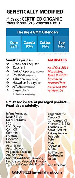 GMOs, Genetically Modified Organisms, Papaya, Corn, Soy, Cotton, Canola