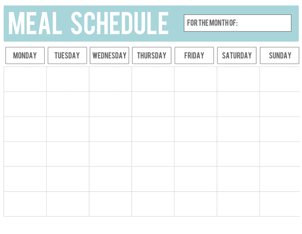 MY NEW GAME PLAN- FREE Housework/Meal Planning Printable - At Home ...