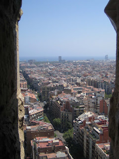 View of the city from a Sagrada Familia tower