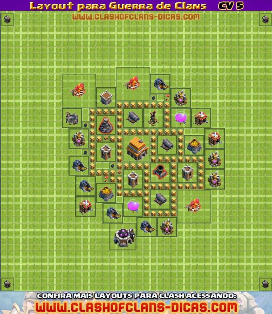 Layouts para Guerra Clash-of-clans-layout-defesa-guerra-de-clans-estrelas-cv-5