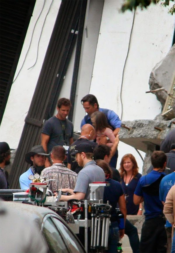 "Ben Affleck y Zack Snyder en el rodaje de ""Batman V Superman: Dawn of Justice"""