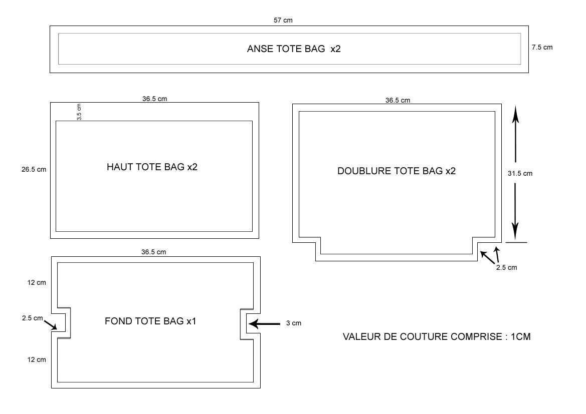 tutoriel 12 coudre un tote bag youtube. Black Bedroom Furniture Sets. Home Design Ideas