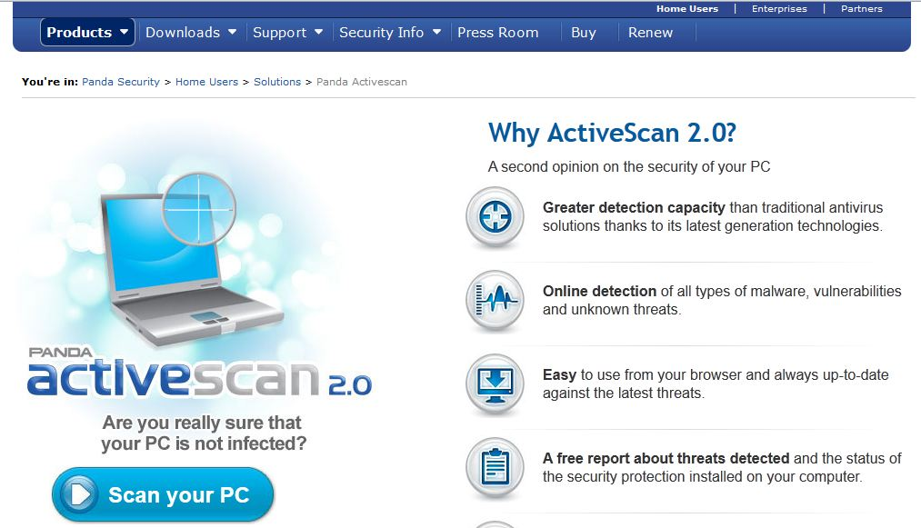 panda scan online