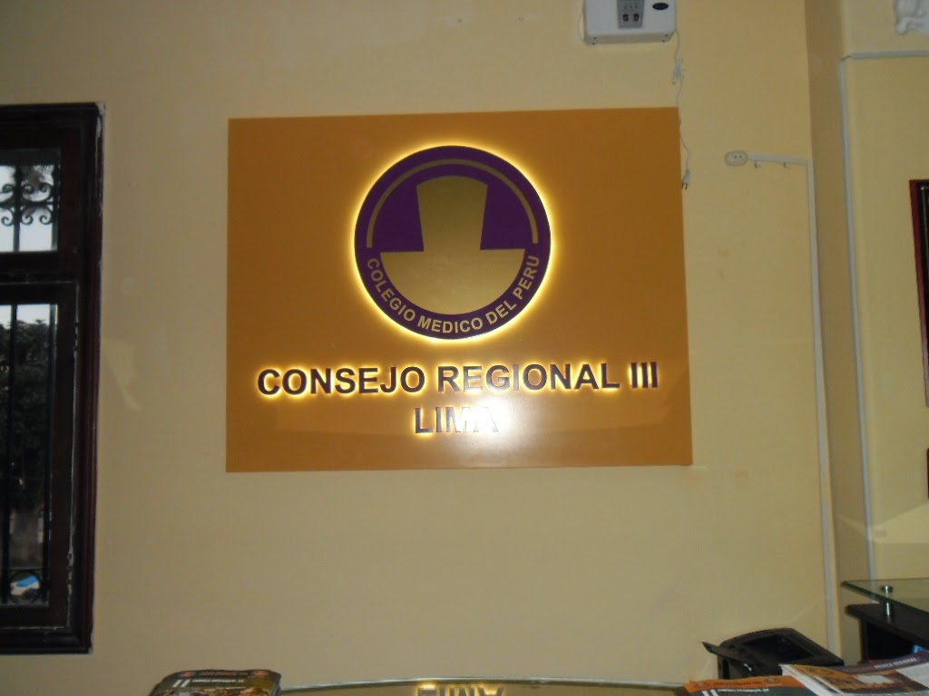 LETRERO RETROILUMINADO - Colegio Médico