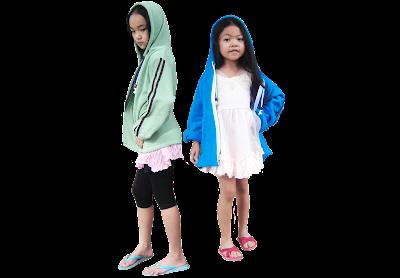 นางแบบ-เสื้อหมวก เด็ก-เสื้อเขียวอ่อน-สีฟ้า