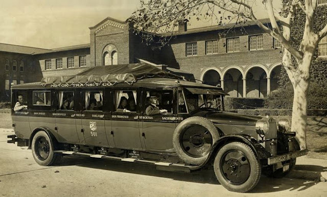 just a car guy an early form of a bus the san diego to sacramento motor transit company. Black Bedroom Furniture Sets. Home Design Ideas