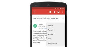 Pengguna Gmail kini bisa memblokir alamat email yang dianggap sebagai pengganggu (Kompas - Google)