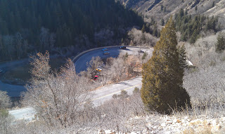 "Big Cottonwood Famous ""S"" Curve"