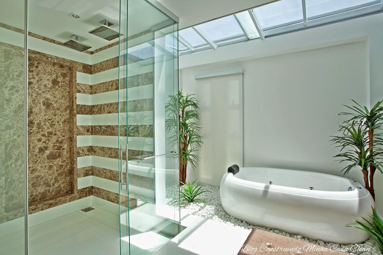 : Banheiros e Lavabos com Jardins de Inverno!!! Quais Plantas Usar #614A2A 1600 1066