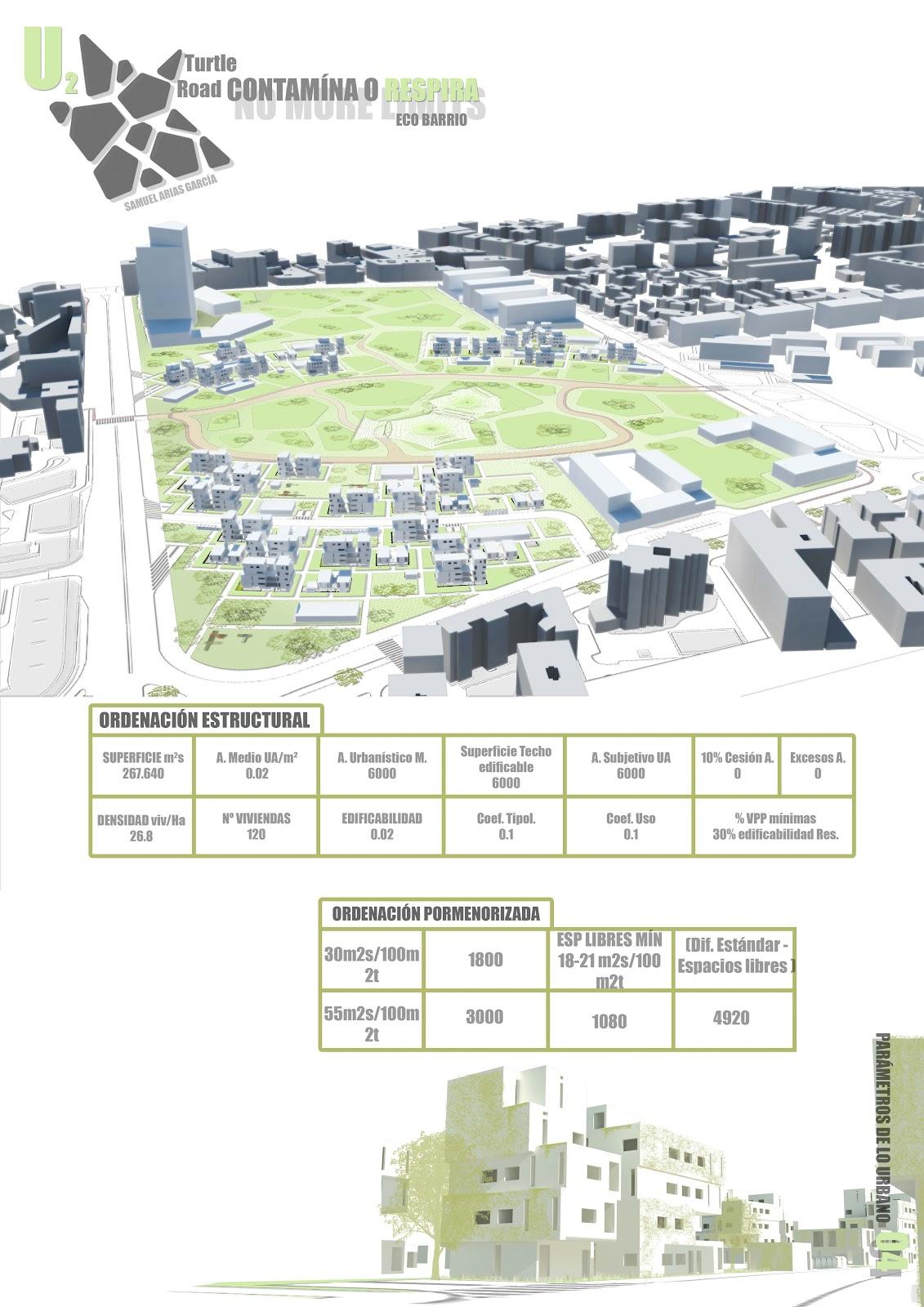 Sk studio u2 barrios habitables propuesta de barrio en antigua parcela repsol 02 02 turtle road - Ets arquitectura malaga ...