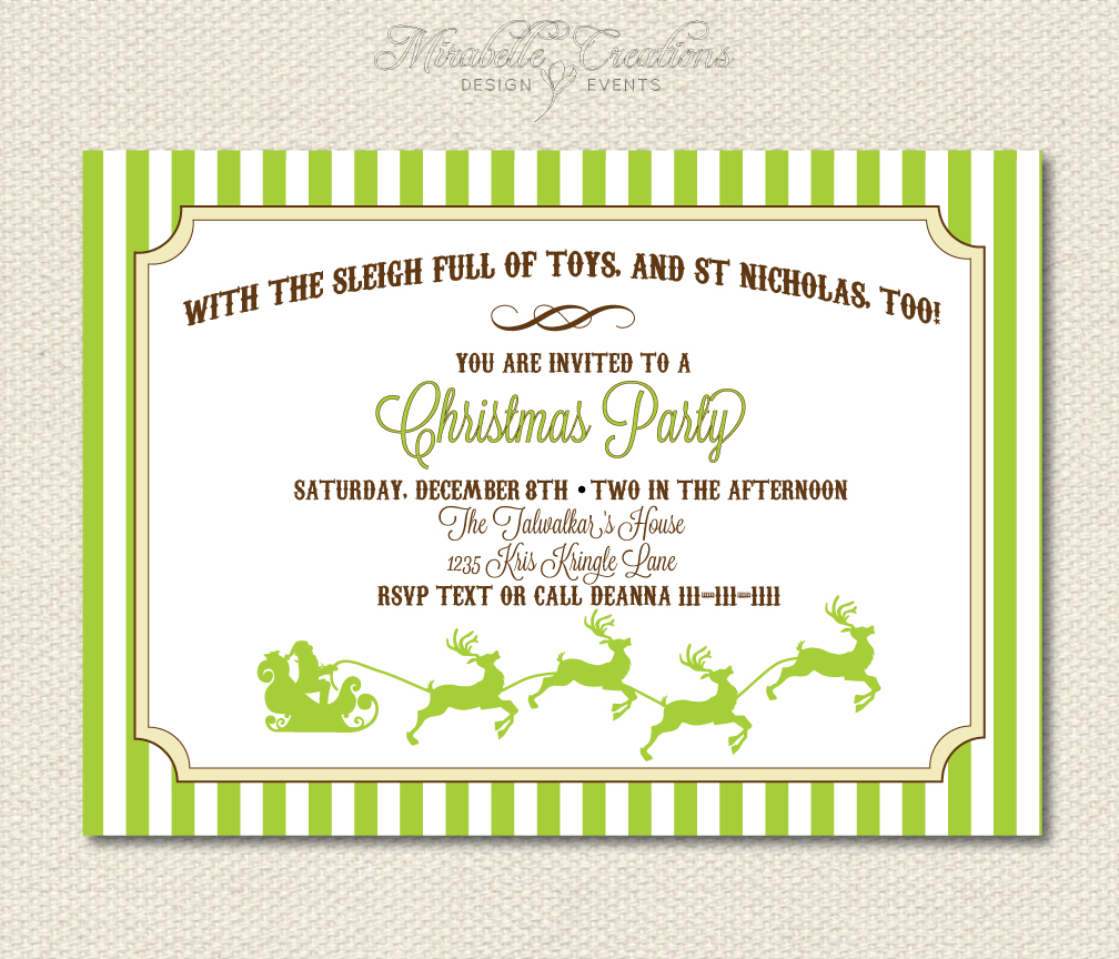 Cyber Week Discount and New to the Shop Santas Sled Invitation
