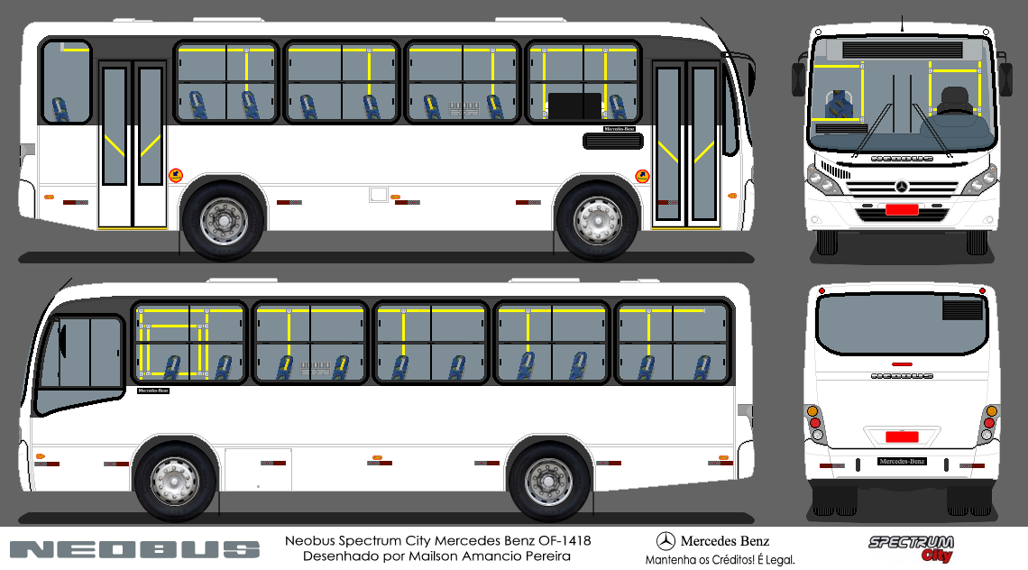 Desenhos de nibus neobus spectrum city mercedes benz of 1418 for Mercedes benz of atlantic city