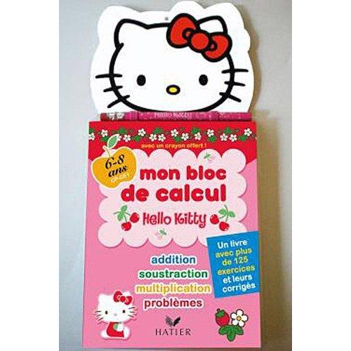livre de calcul hello kitty pour apprendre à compter en s'amusant