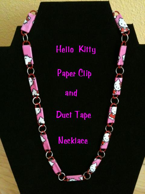 paper tape duct soccer clip mom paperclip crafty necklace