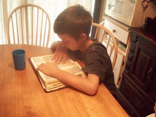 Reading a Bible verse