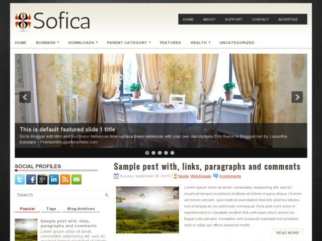 Sofica Blogger Template