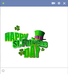 Happy St. Patrick's Day Facebook sticker