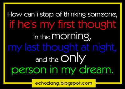 How can i stop of thinking someone, if he's my first thought in the morning