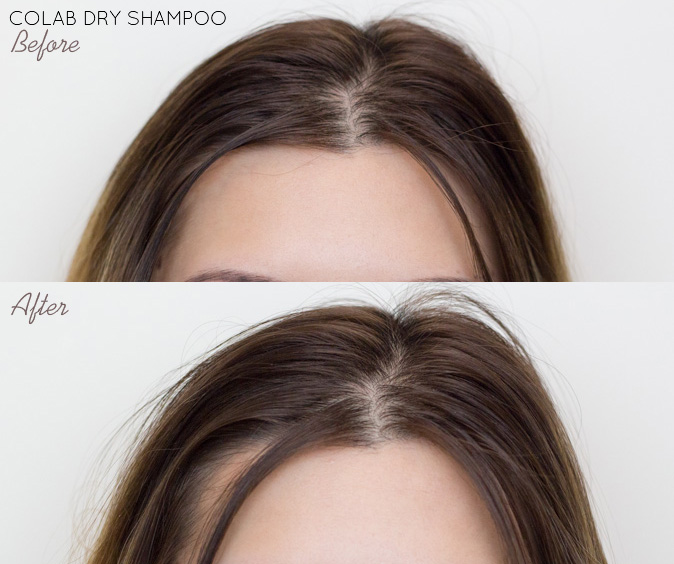 colab dry shampoo rio london review before and after