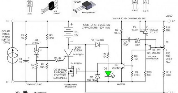 circuit diagram series commutated scr sss solar charge