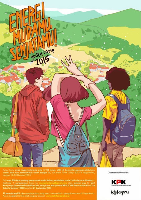Youth Camp anak muda 2015 KPK energi mudamu senjatamu