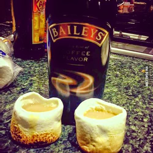 This is called Marshmallow Shots