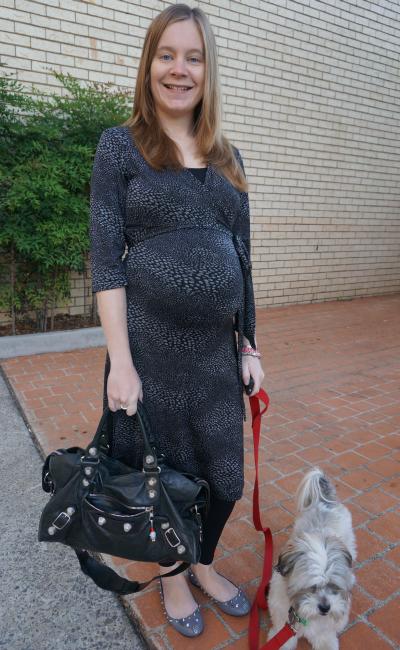 third trimester office wear soon maternity workwear printed wrap dress