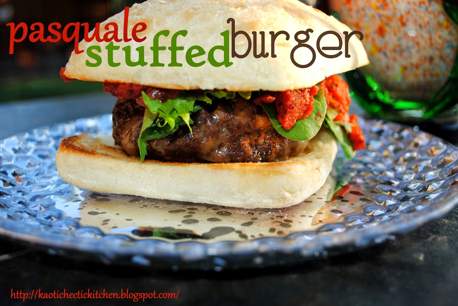 stuffed pasquale burgers.. aka onion, peppers and cheese stuffed into an italian burger..and some tips and tricks for making that perfect stuffed burger..