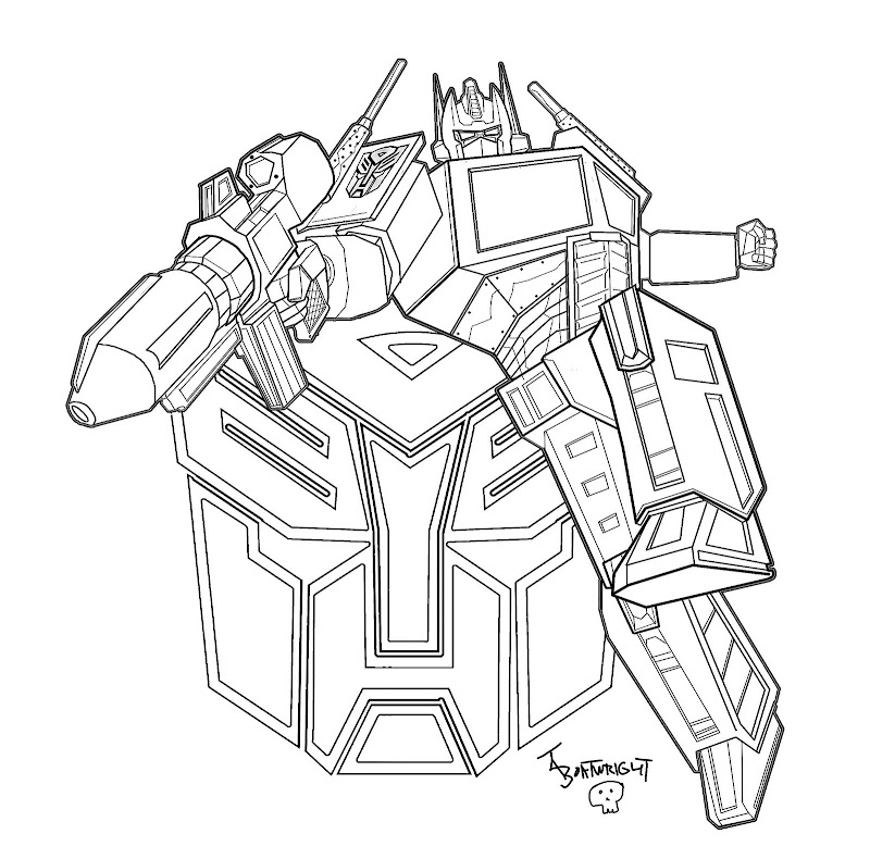 Transformer Coloring Pages - Optimus Prime Pictures For Free title=