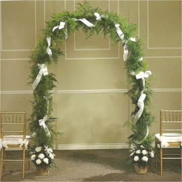 How To Decorate Columns For A Wedding
