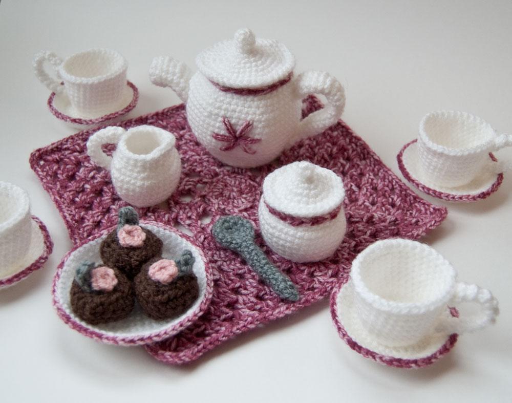 The Itsy Bitsy Spider Crochet: My Crochet Tea Set