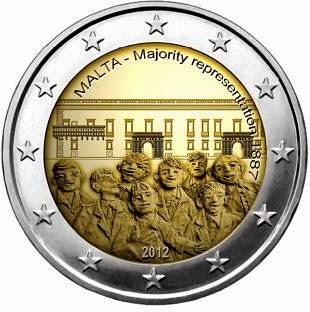 2 Euro Coins Malta 2012, Majority representation 1887