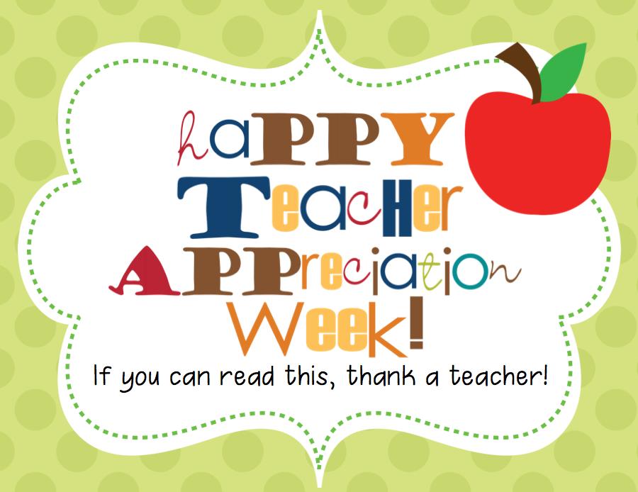 Mrs a colwells class happy teacher appreciation week happy teacher appreciation week sciox Images