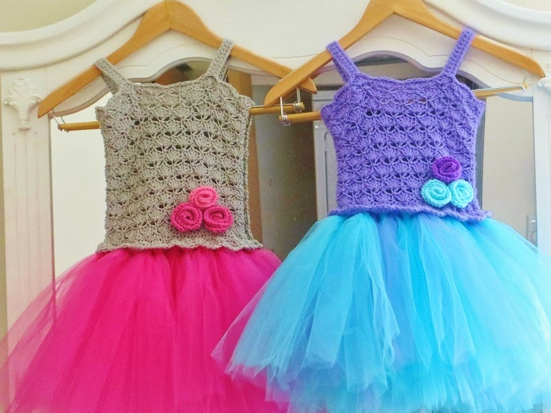 For the Love of Crochet Along: Crochet Tutu Dress