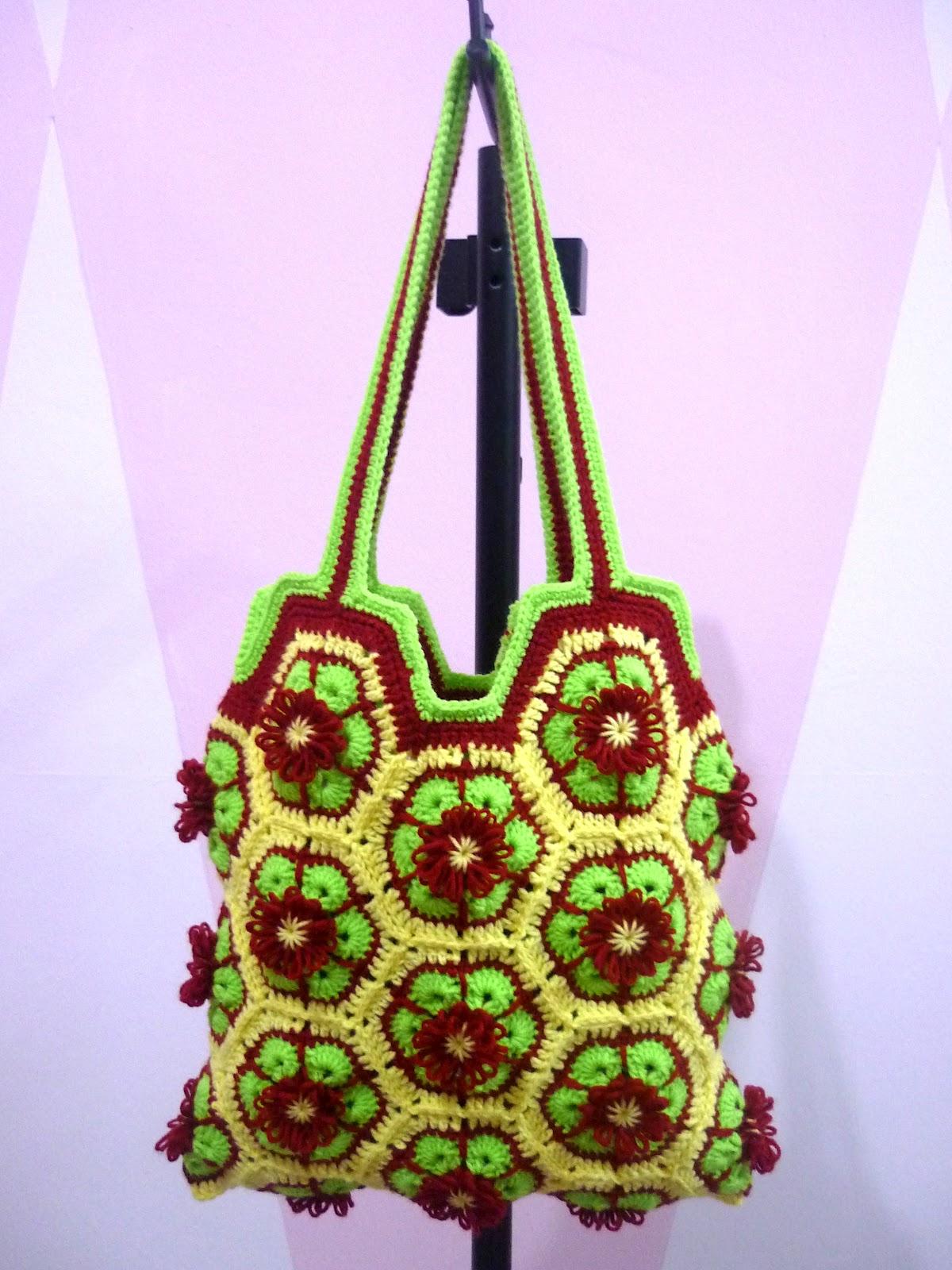 Crochet.is.Fun: Tutorial: African Flower Bag