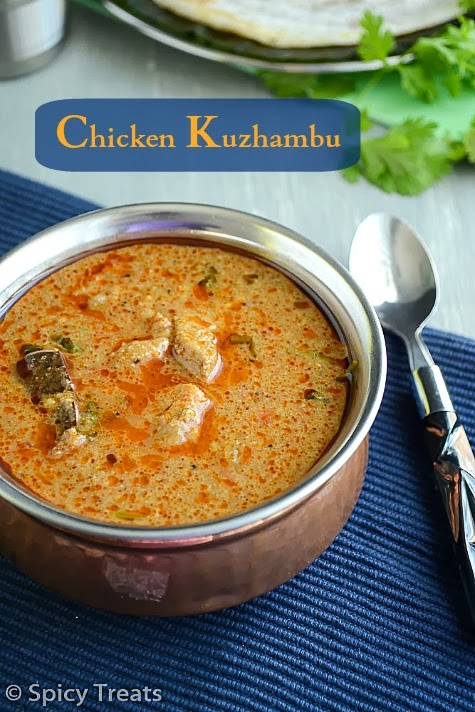 Spicy treats chicken kuzhambu tamil nadu hotel style chicken adjust chilli to your desired spice level the above one is a spicy kuzhambu for coconut paste grind 3 4 tbsp coconut with 2 tbsp water to a smooth paste ccuart Images