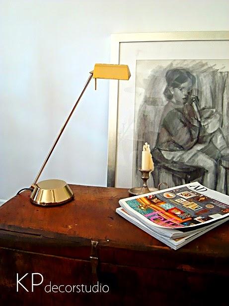 Lámparas vintage para escritorio. Lampara fase años 90
