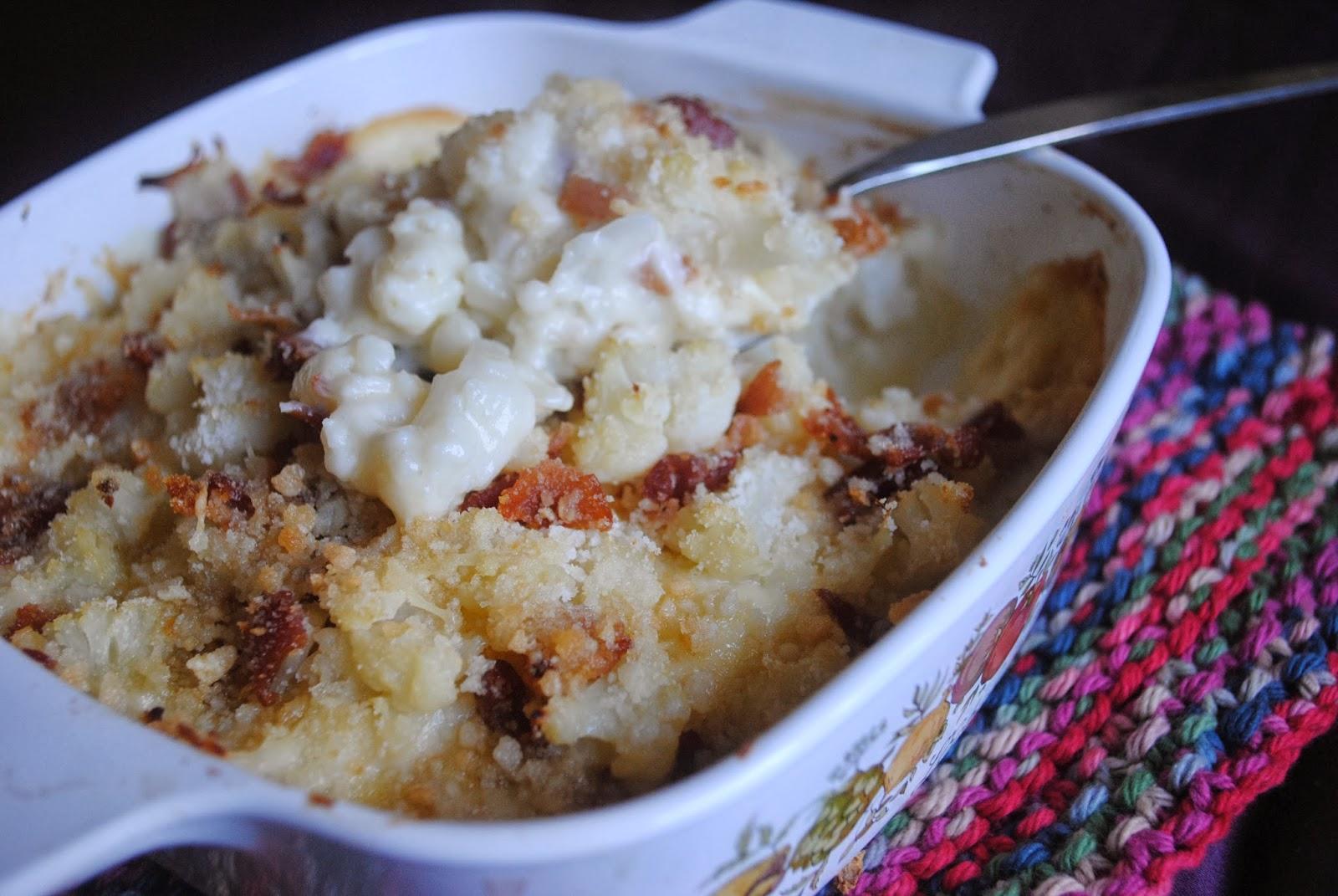Annie's Gluten Free Grub: Cauliflower and Bacon Gratin